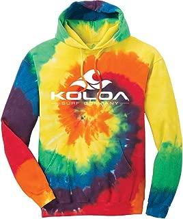 Koloa Surf Wave Logo Hoodies - Hooded Sweatshirt, 2XL-Rainbow Tie-Dye