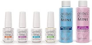 Gelish MINI Complete Basix Gel Nail Polish Prep Essentials Starter Kit Package