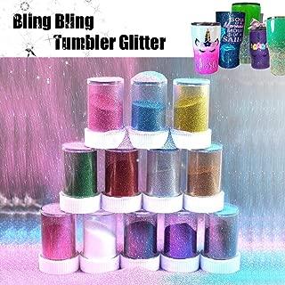 12 Pcs Magic Glitter Bling Spray Shaker for Crafts Tumbler, USLINSKY Fine Slim Glitter Assorted Color Adapt to Glitter Tumbler Cups, Glitter Sparkling Crystals Shaker Bottle For Tumblers