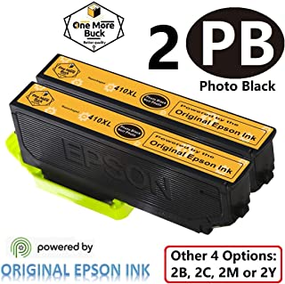 OneMoreBuck Repackaged 410XL Ink Cartridges with Original Epson Ink, Pack-2 (2 Photo Black XL)