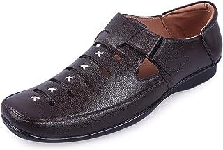 Andrew Scott Men's Brown Synthetic Outdoor Sandals