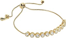 Betsey Johnson Blue by Betsey Johnson Chain Bracelet with Cubic Zirconia Stones and Adjustable Slider