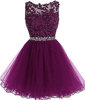 Dydsz Women's Dress Short Prom Dress For Juniors Tulle Cocktail Gown D126