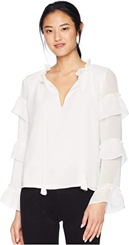 True Romance Ruffle Sleeve Blouse