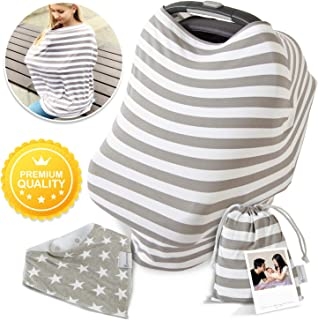 Multi Usage Nursing Cover - Breastfeeding Cover - Car Seat Covers for Babies