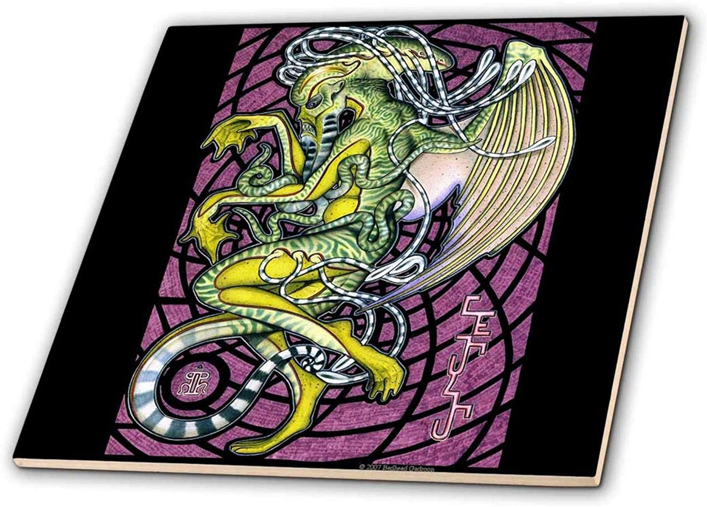 3dRosa CT 156833 _ 7 Dread Cthulhu Lovecraft Mythos Elder God Horror Art-Glass Tile, 20,3 cm B00EEGI0PI | Berühmter Laden