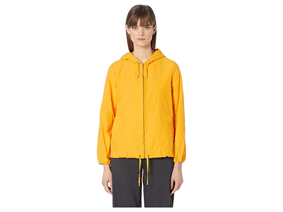Eileen Fisher Hooded Zip Jacket (Mango) Women