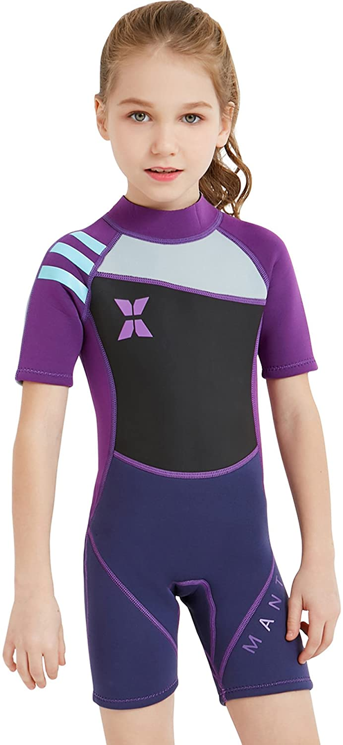 DIVE Quality inspection SAIL Max 40% OFF Kids 2.5mm Warm Wetsuit One Shor UV Protection Piece