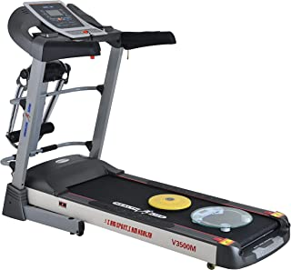 Health Life V3500M Multi-function Motorized Treadmill With Personal Scale -130 Kg, 3.5 Horse Power, Black/Grey