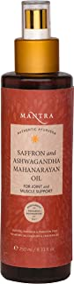 Mantra Authentic Ayurveda Saffron Ashwagandha Mahanarayan Oil for Joint and Muscle Support Herbal Ayurveda FREE from chemicals, Silicon, Paraben, and Paraffin (250 ml / 8.3 fl)