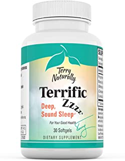 Terry Naturally Terrific Zzzz - 250 mg Mandarin Oil Complex, 30 Softgels - Non-Habit Forming Sleep Support Supplement, Fee...