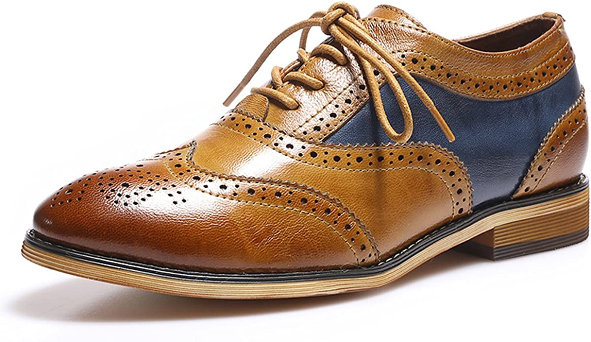 Mona flying Cheap mail order sales Women's Portland Mall Leather Perforated Brogue Wi Oxfords Lace-up