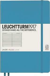 Leuchtturm 1917, taccuino (A5), copertina rigida, 249 pagine A righe Liniert Nordic Blue
