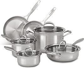 KitchenAid KC2CS10ST 5-ply Copper Core 10-Piece Set Cookware - Stainless Steel