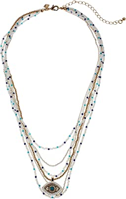 Rebecca Minkoff - Layered Beads Evil Eye Necklace
