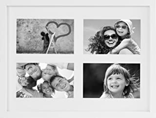 BD ART Gallery Picture Frame (11x14 with Four 4x6 Openings, White)