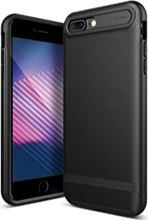 Caseology Wavelength Series iPhone 7 Plus / 8 Plus Cover Case with Pattern Slim Protective for Apple iPhone 7 Plus (2016) / iPhone 8 Plus (2017) - Matte Black