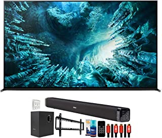 Sony XBR75Z8H 75 inch Z8H 8K Full Array LED Smart TV (2020 Model) Bundle with Deco Gear Home Theater Soundbar with Subwoof...