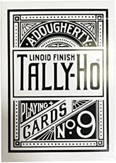 White Tally Ho Reverse Circle Back Limited Edition Playing Cards