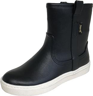 [アマート] レディース シンプル ペコス ハーフ スニーカー ブーツ レイン 雨靴 防水 タウン カジュアル 3色 AMT-2202