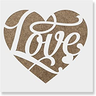 Love Heart Stencil Template for Walls and Crafts - Reusable Stencils for Painting in Small & Large Sizes