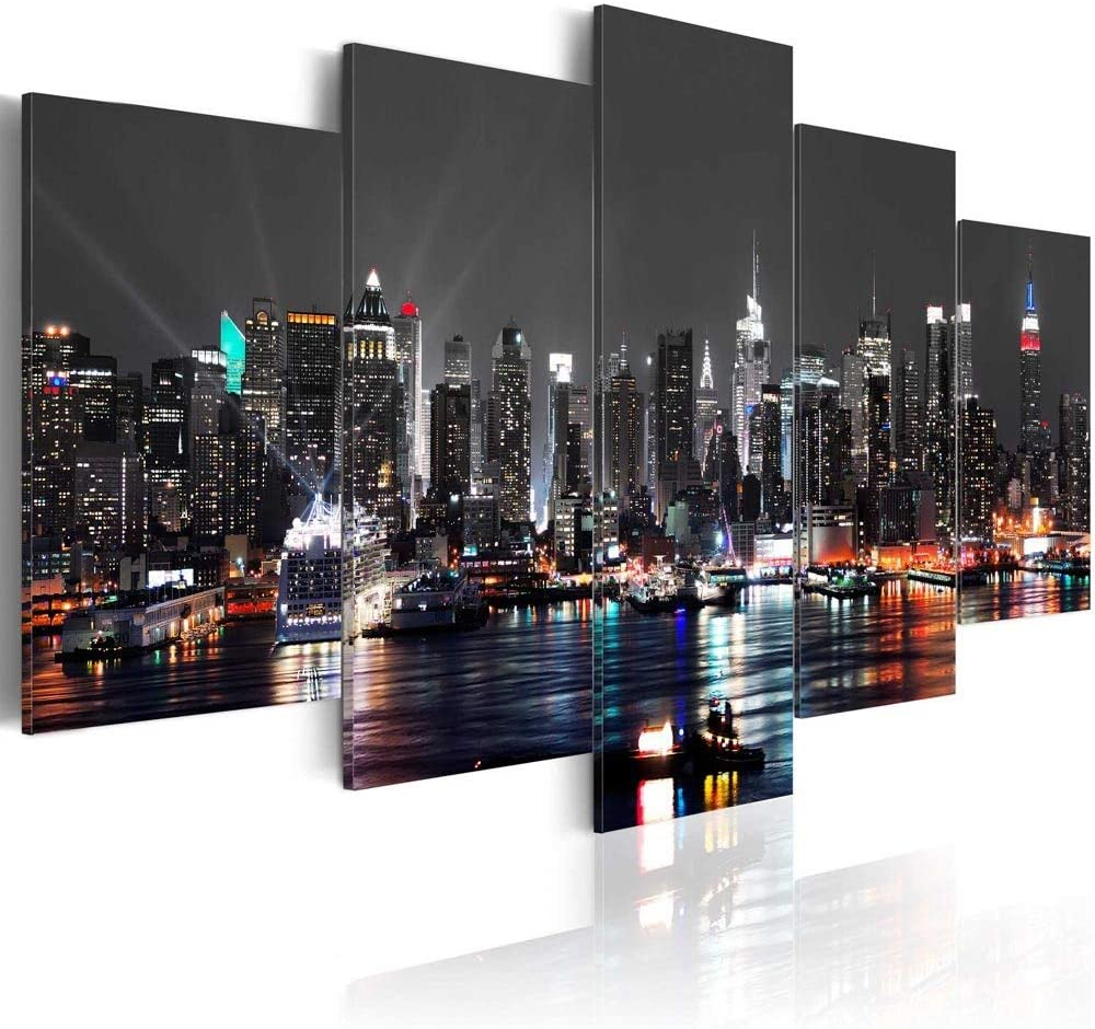 New York City Wall Art Picture Canvas Print Painting for Home Living Room Bedroom Decor