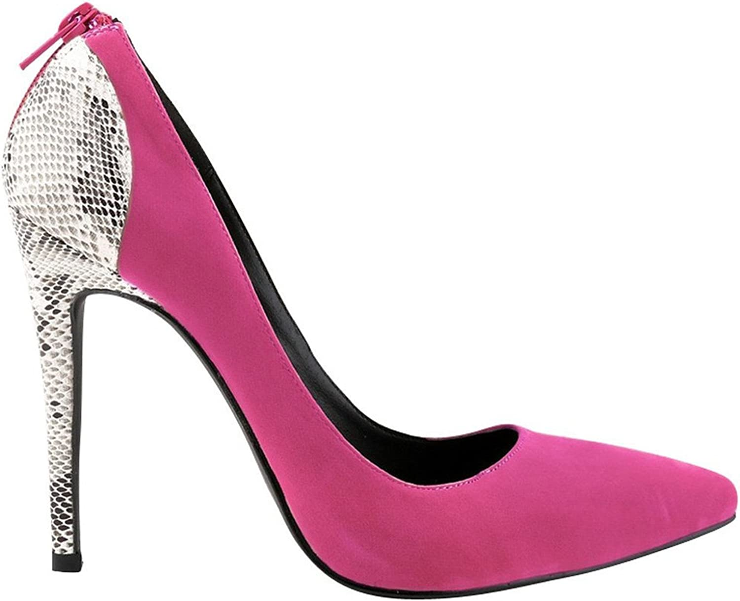 WANabcMAN Comfortable Women's Suede Pointy Stiletto High Heels Party Pumps Weeding shoes pink37 M EU