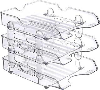 Digital Plastic Desk Tray - Clear, 3 Tier