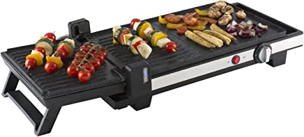 塔健康 t14022二合一 Grill and 电烧烤盘带滴水托盘,2200瓦,黑色