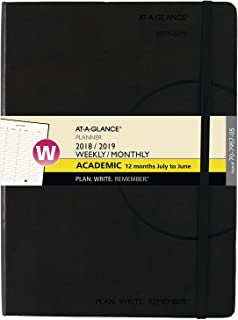 AT-A-GLANCE 2018-2019 Academic Year Weekly & Monthly Planner / Appointment Book, Medium, 7-1/2 x 10, Plan.Write.Remember. (70795705)