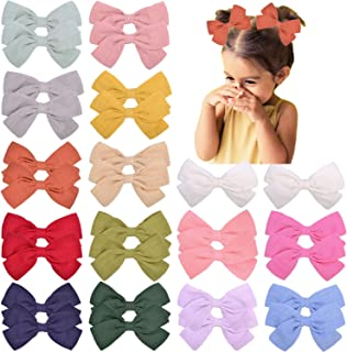 30PCS 3.5Inch Baby Hair Bows Alligator Clips Linen Bows Hair Barrettes Accessories for Little Girls Toddlers Kids Pigtail ...