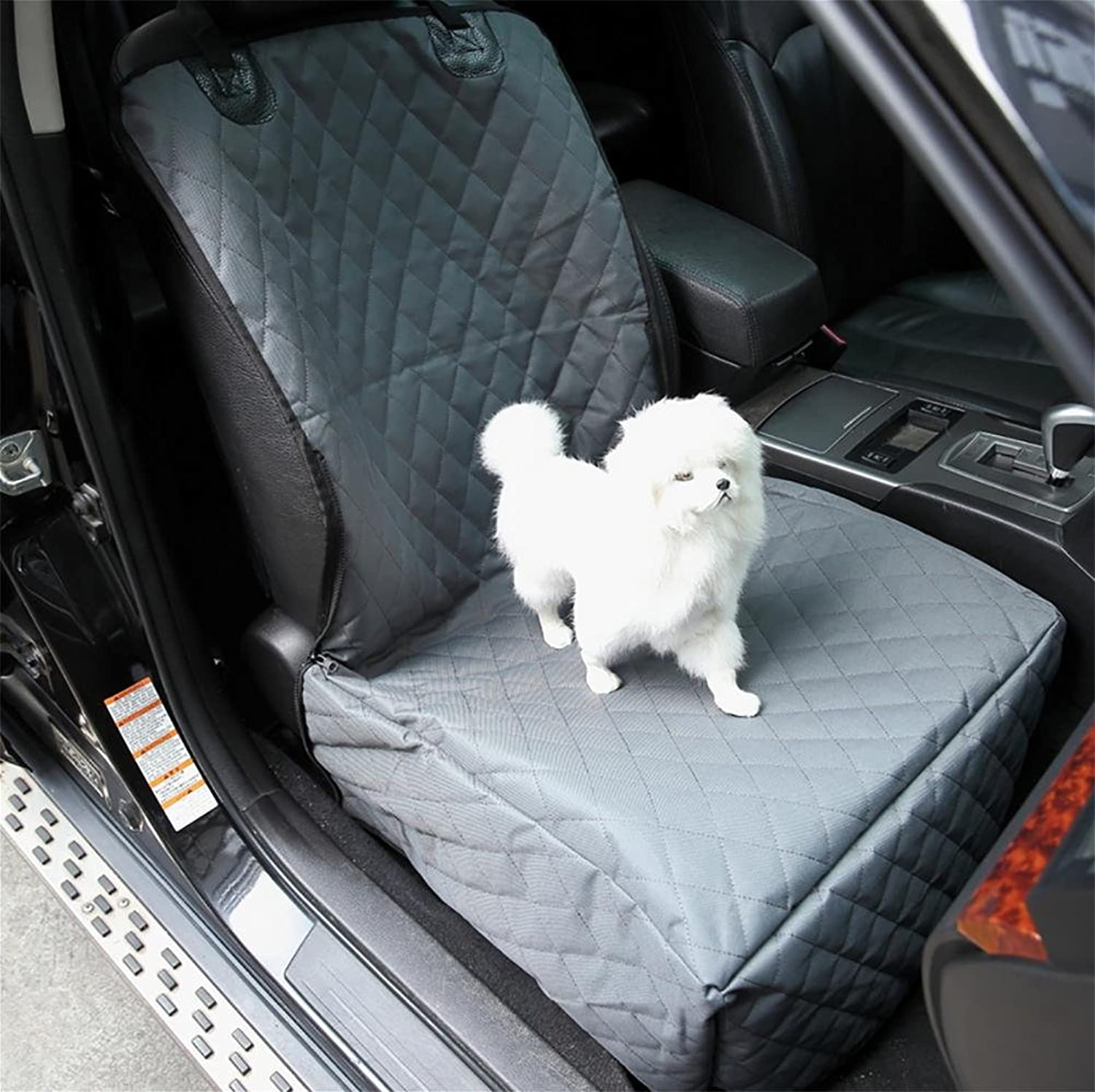 LOHUA Pet Front Seat Cover for Cars  Universal, WaterProof & Nonslip Backing