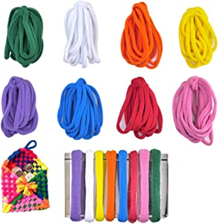 Compatible with 7 Inch Weaving Loom Aodaer 288 Pieces Loom Potholder Loops Weaving Loom Loops Weaving Craft Loops Refill Elastic Potholder Loops with Multiple Colors for DIY Crafts Supplies