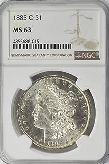 1885 O Morgan Silver Dollar AZB5 90% Silver AZB5 $1 MS63 NGC MS