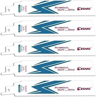 Sponsored Ad – EZARC Reciprocating Saw Blade Bi-Metal Cobalt Sabre Saw Blades for Heavy Metal Cutting 150mm 14TPI R626PM+...