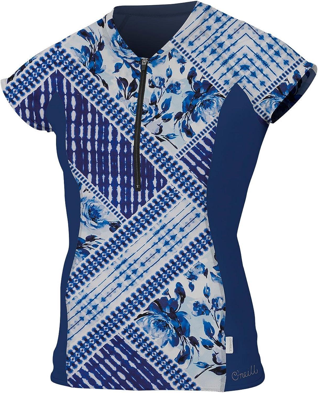 O'Neill Womens Cap Sleeve Sun Shirt Front Zip