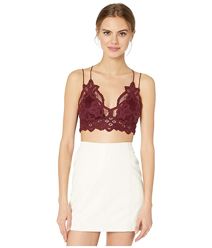 Free People  Adella Bralette (Dark Red) Womens Bra