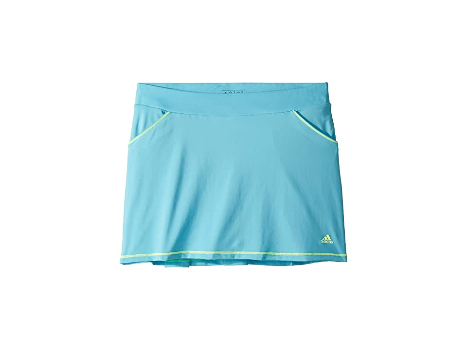 Image of adidas Golf Kids Solid Golf Skort (Big Kids) (Bright Cyan) Girl's Skort