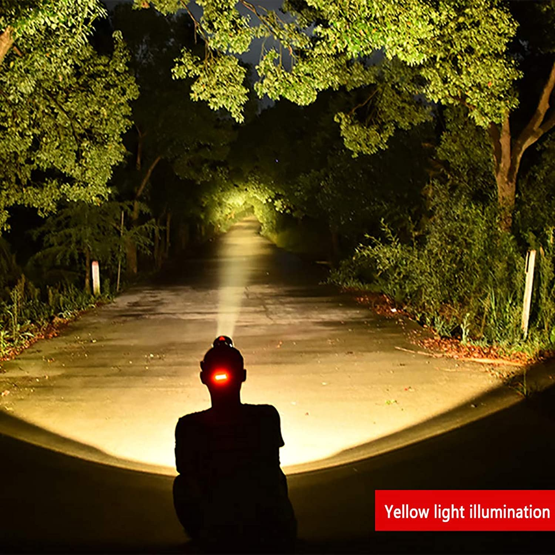 Led Kopf-Montiert High-Brightness-Multifunktions-Scheinwerfer FüR Angeln Lichter Outdoor-Camping Miner Lampe 1500 Stream Klar Gelb Weiß Zwei-Farben-Lampe - 4-10 Stunden Zu Einer Zeit - Schwarz B07JJPXDJS  Offizielle Webseite