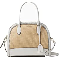 Kate Spade New York Reiley Straw Large Dome Womens Satchel (Bright White)