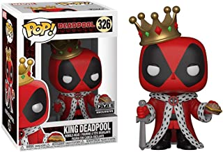 Funko King Deadpool (f.y.e. Exclusive) POP! Marvel Vinyl Figure & 1 POP! Compatible PET Plastic Graphical Protector Bundle [#326 / 31116 - B]