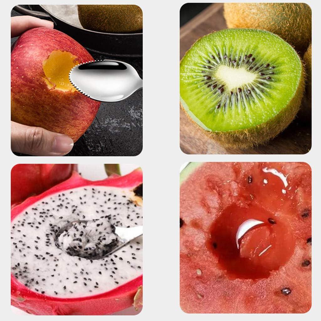 TY-UNLESS Lot de 4 cuill/ères /à pamplemousse bord dentel/é en acier inoxydable pour fruits pamplemousse