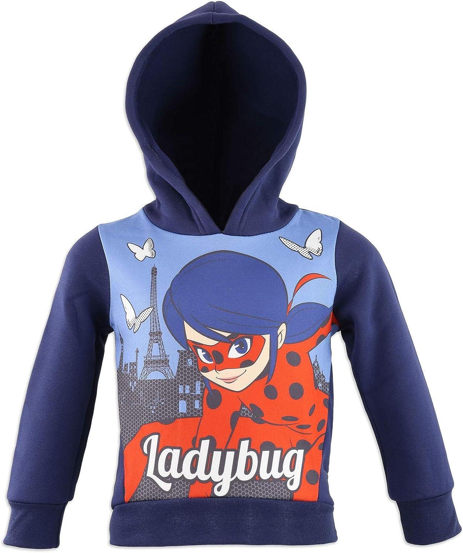 Miraculous LadyBug e Cat Noir Ch/ándal de gimnasia con capucha de felpa Oto/ño//Invierno Ni/ña