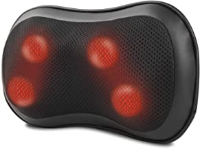 RENPHO Back Massager with Heat, Ultra Slim Shiatsu Lower Back Neck Massage Pillow, 3-Speeds with Net Cover Electric Shoulder Massage Pain Relief Gifts