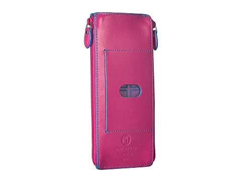 Lodis Accessories Audrey RFID Double Zip Card Case Hot Pink/Blue Latest Collections Supply Cheap Online Cheap Sale Clearance New Style ztXJdLQGq3