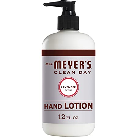 Mrs. Meyer's Clean Day Hand Lotion for Dry Hands, Non-Greasy Moisturizer Made with Essential Oils, Cruelty Free Formula, Lavender Scent, 12 oz