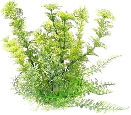 "Mallofusa Aquarium Ornament Plants Plastic Water Grass for Fish Tank,6.7"" High,Green"