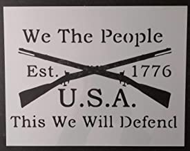 OutletBestSelling Reusable Sturdy We The People 1776 Crossed Rifles 11