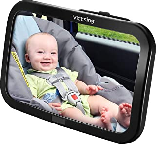 comprar comparacion Espejo Retrovisor Coche de VicTsing para Vigilar al Bebé en el Coche, 360° Ajustable Irrompible Interior Espejo Coche Bebé...