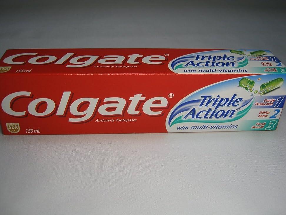 話一般的にクランプColgate Triple Action Toothpaste コールゲート トリプルアクション 歯磨き粉 [並行輸入品]